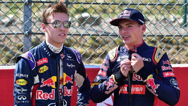 Daniil Kwjat (links) und Max Verstappen (Bild: APA/AFP/POOL/ANDREJ ISAKOVIC)