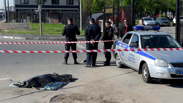 Massenschlägerei auf Moskauer Friedhof: Drei Tote (Bild: APA/AFP/VASILY MAXIMOV)