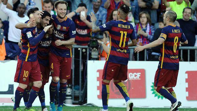 Barca nervenstark! Katalanen krönen sich zum Champ (Bild: AFP)