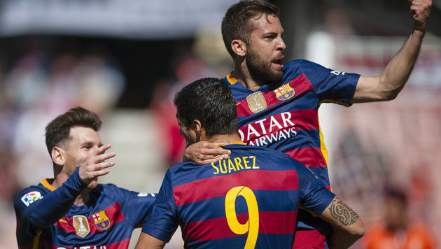 Barca nervenstark! Katalanen krönen sich zum Champ (Bild: AP)
