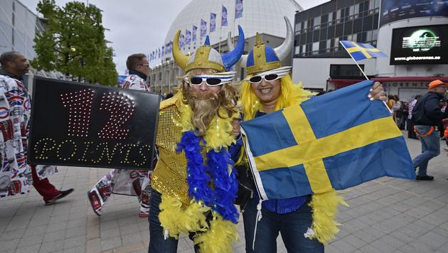 12 Punkte für Schweden - oder doch für Österreich? (Bild: AP)
