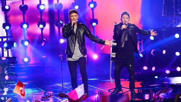 'You're Not Alone' hieß der Song von Großbritannien. (Bild: AFP)
