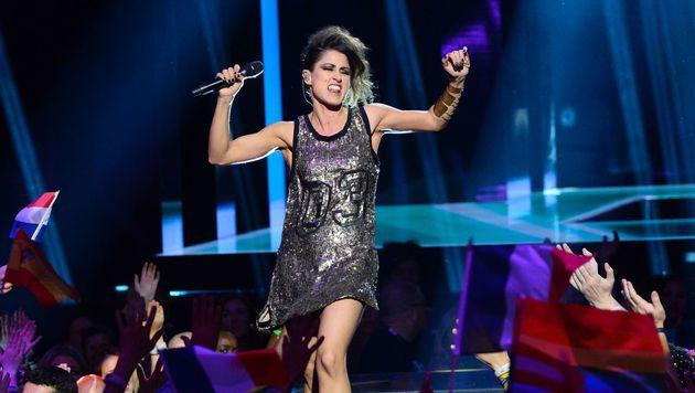 "Coole Nummer, coole Frau: Barei sang ""Say Yay!"" für Spanien. (Bild: AFP)"