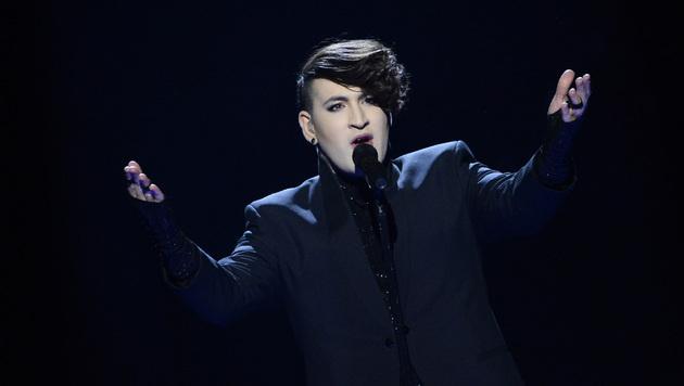 Marilyn Manson, bist du's? Nein, es ist Hovi Star aus Israel. (Bild: AFP)
