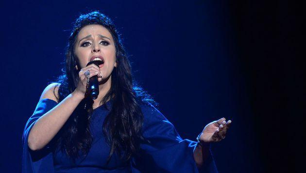 Die Ukraine schickte heuer einen politischen - ähm - nicht politischen Song nach Stockholm. (Bild: AFP)
