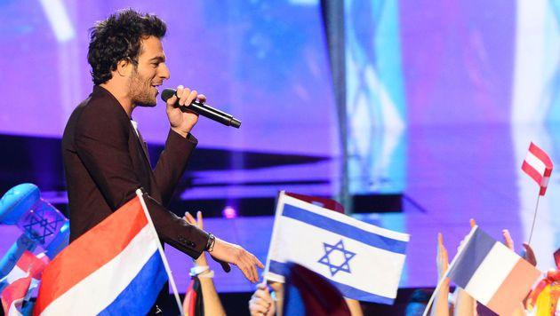 'J'ai Cherche' hieß der Song von Amir aus Frankreich. (Bild: AFP)