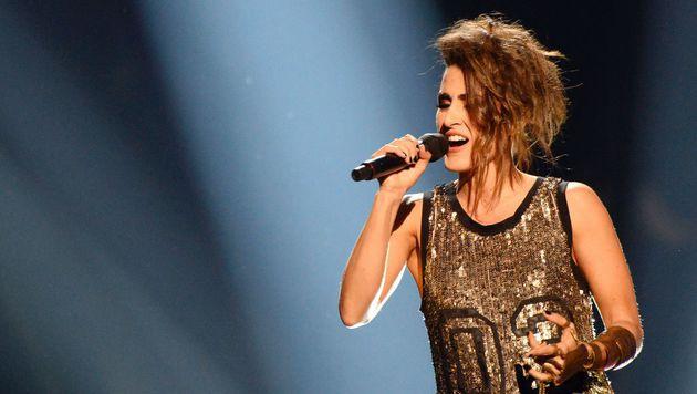 Barei sang diesmal nur Englisch, obwohl Spanien früher immer auf seine Muttersprache setzte. (Bild: AFP)