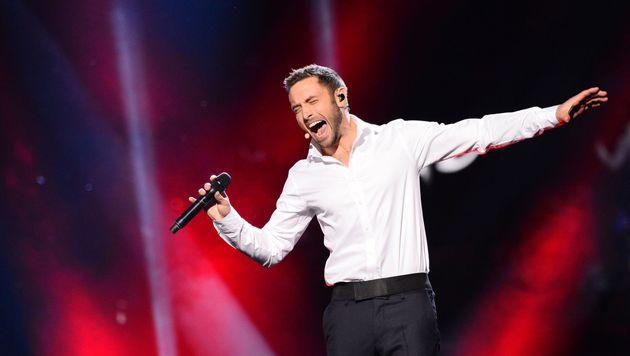 Mans Zelmerlöw performte vor dem Voting seinen neuen Song. (Bild: AFP)