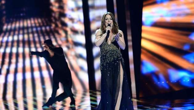 Süß: Die fesche Malteserin ist schwanger und somit quasi zu zweit auf der Bühne. (Bild: AFP)