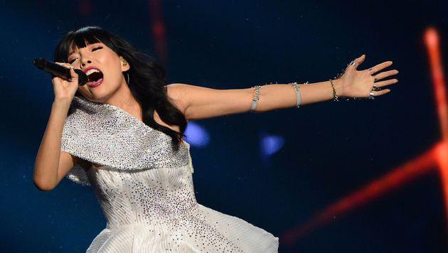 """Auch Australien durfte heuer wieder mitsingen - und schickte Dami Im mit """"Sound Of Silence"""". (Bild: AFP)"""