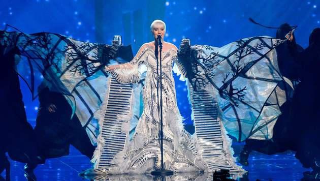 """Nina """"Ich bin ein Baum"""" Kraljic sang für Kroatien. (Bild: AFP)"""
