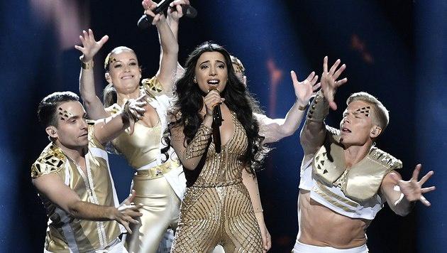 Aserbaidschan setzte mit Samra auf eine sexy Jennifer Lopez. (Bild: AP)