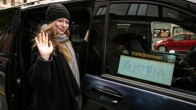 Am Nachmittag machte sich Zoe noch auf zur letzten Probe vor dem Finale. (Bild: APA/ORF/MILENKO BADZIC)