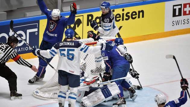 Finnland steht als zweites Team im Viertelfinale (Bild: AFP)