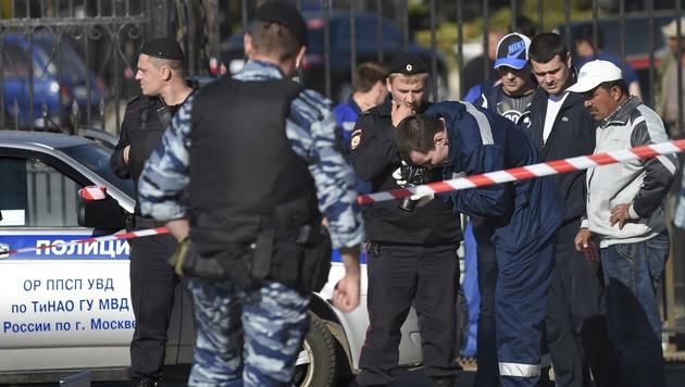 Massenschlägerei auf Moskauer Friedhof: Drei Tote (Bild: AP)