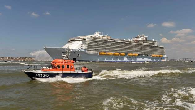 Das ist das größte Kreuzfahrtschiff der Welt (Bild: APA/AFP/JEAN-FRANCOIS MONIER)