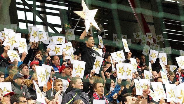 Der Fan-Boykott wegen des Sterns will nicht abreißen (Bild: APA/KRUGFOTO)