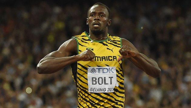 Bolt startet mit 10,05 Sekunden in Olympia-Saison (Bild: APA/AFP/OLIVIER MORIN)