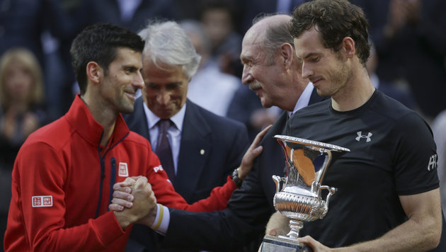 Murray fertigt Djokovic im Rom-Finale ab! (Bild: AP)