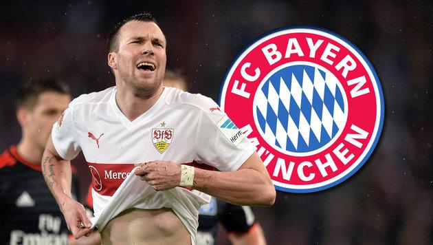 Stuttgarts Großkreutz schießt gegen Meister-Bayern (Bild: GEPA, Bayern München)