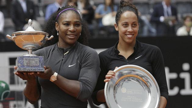 Serena Williams und Madison Keys (Bild: AP)