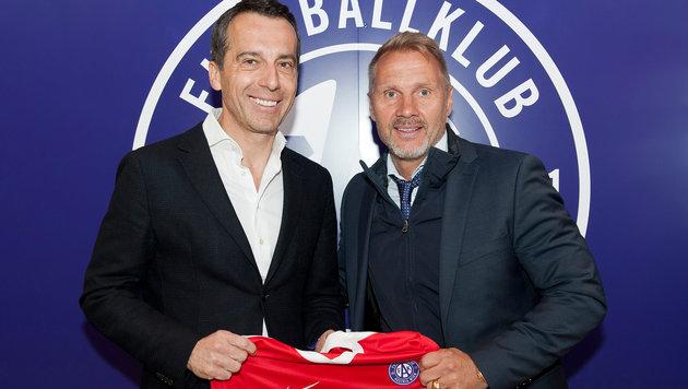 Christian Kern (links) mit Austria-Coach Thorsten Fink (Bild: markusreitler.com)