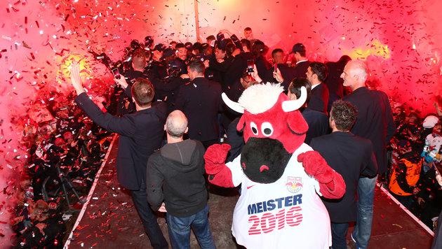 Meisterfeier in Salzburg (Bild: GEPA)
