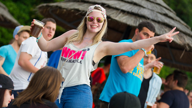 Die besten Bilder der Mega-Studentenparty (Bild: Martin Steiger)