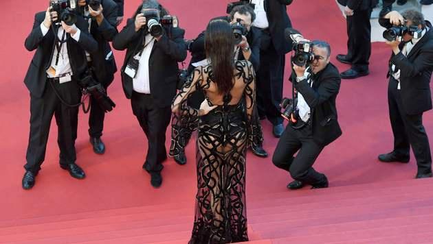 Da glühten die Kameras: Kendall Jenner in Cannes (Bild: AFP)