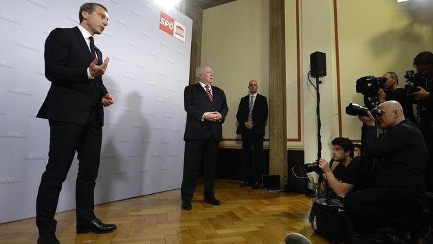 Kern bei seiner ersten Rede als SPÖ-Chef (Bild: APA/ROBERT J€ÄGER)