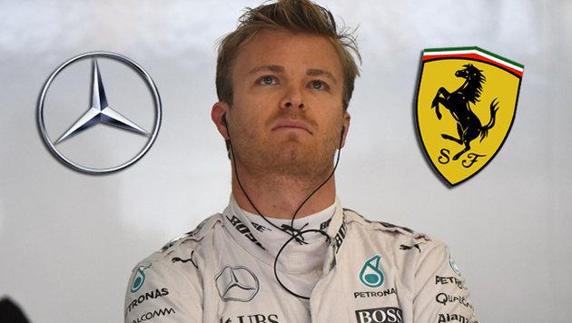 Ferrari will Rosberg vom Rivalen Mercedes loseisen (Bild: APA/AFP/JOHANNES EISELE)
