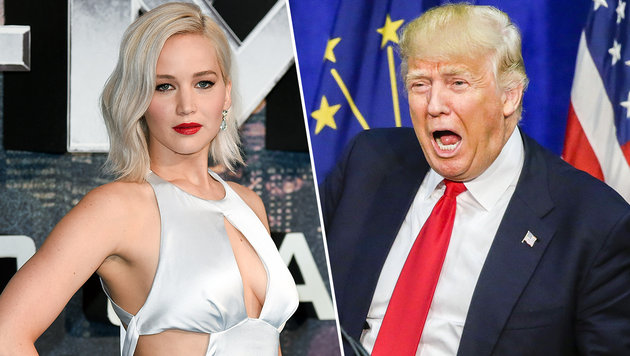 "Jennifer Lawrence: ""Hey Trump, fuck you!"" (Bild: Viennareport, APA/EPA/TANNEN MAURY)"
