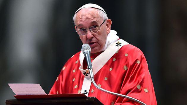 """Papst Franziskus spricht erneut von """"Völkermord"""" (Bild: APA/AFP/GABRIEL BOUYS)"""