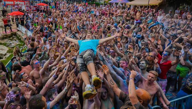 Die besten Bilder der Mega-Studentenparty (Bild: Johann Paul Schmidt)