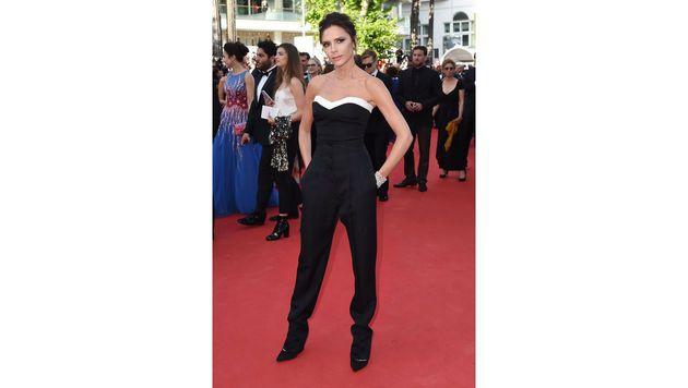Victoria Beckham trug natürlich Victoria Beckham. (Bild: AFP)