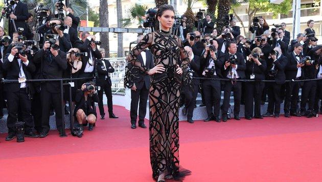 Kendall Jenner in Roberto Cavalli (Bild: AFP or licensors)