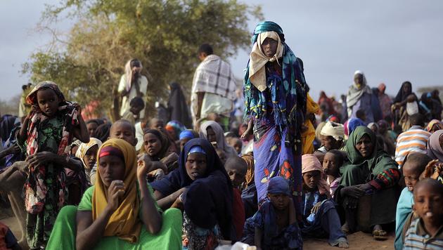 Somalische Flüchtlinge in Kenia (Bild: TONY KARUMBA/AFP/picturedesk.com)