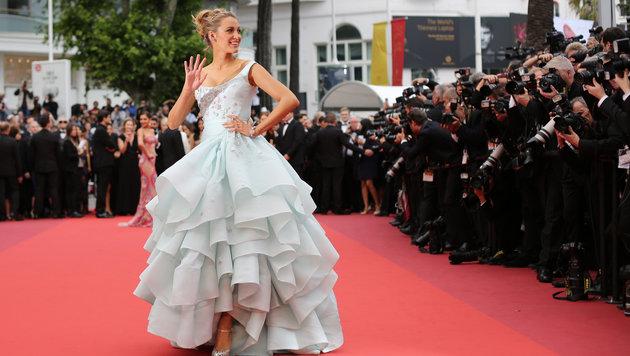 Blake Lively in einem Vivienne-Westwood-Kleid mit Raffungen (Bild: AP)
