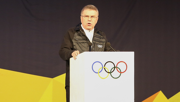 IOC-Präsident Bach droht Russland mit Olympia-Aus (Bild: GEPA)