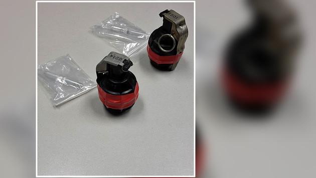 Mann brachte scharfe Handgranaten zur Polizei (Bild: LPD Wien)
