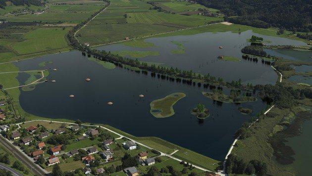 Diese Fotomontage zeigt, wie das Areal nach der Flutung im Jahr 2017 aussehen soll. (Bild: Land Kärnten)