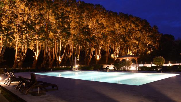 Die Pool-Landschaft des Hotels, das das Team während der EM bewohnen wird (Bild: APA/ROBERT JAEGER)