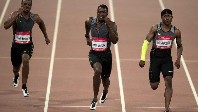 US-Sprinter Justin Gatlin siegte im Finale in 9.94 (Bild: AFP or licensors)