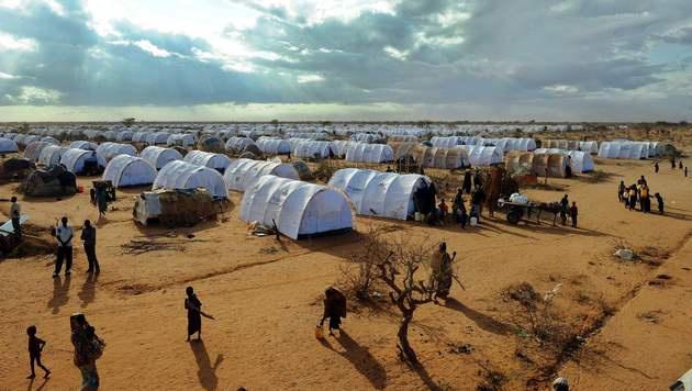 Das Flüchtlingscamp Dadaab in Kenia (Bild: APA/AFP/TONY KARUMBA)
