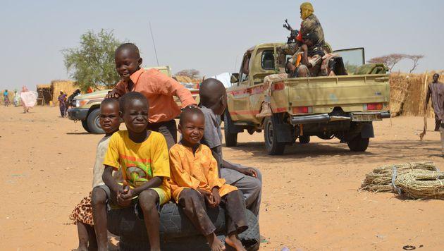 Flüchtlingskinder im Niger (Bild: APA/AFP/BOUREIMA HAMA)