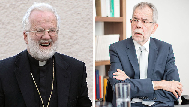 """Bischof erklärt Van der Bellen zum """"Kirchenfeind"""" (Bild: APA/BARBARA GINDL, APA/GEORG HOCHMUTH)"""