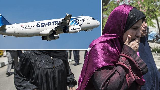 EgyptAir: Suche nach Wrack l�uft auf Hochtouren (Bild: APA/AFP/KHALED DESOUKI, APA/AFP/ANDRAS SOOS)