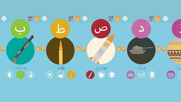 IS veröffentlicht Alphabet-App für Kinder (Bild: Screenshots longwarjournal.org)