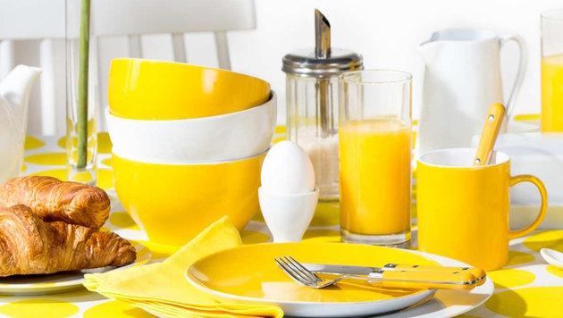 Mit Gelb holen Sie sich den Sommer ins Haus! (Bild: Butlers)