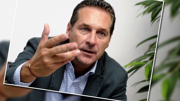 """Strache: """"Gewaltbereitschaft ist deutlich höher"""" (Bild: APA/HERBERT PFARRHOFER)"""